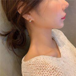 [925銀針]精緻六芒星耳環