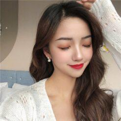 [925銀]甜美珍珠百搭耳釘