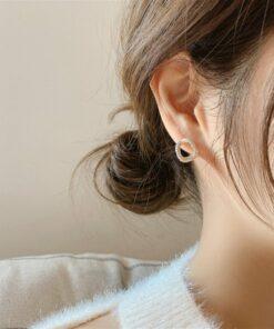 [925銀針]簡約鏤空銀針耳釘