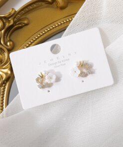 [925銀針]日系甜美貝殼耳釘
