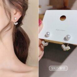 [925銀針]氣質珍珠耳環耳墜耳釘