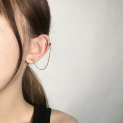 [925銀针]簡約鏈條韓式耳釘
