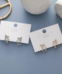 [925銀針]小巧魚尾耳環