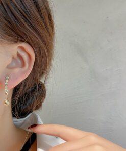 [925銀針]氣質幾何圓珠耳墜耳環