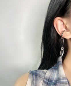 [925銀针]長款森系耳骨夾式耳環