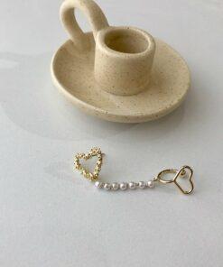 [925銀針]一體式珍珠耳骨夾式耳釘