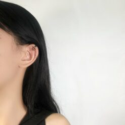 [925銀針]鏈條流蘇耳夾式耳環