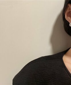 [925銀針]簡約豆子耳環