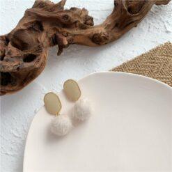 [耳環]絨球滴油耳環耳夾