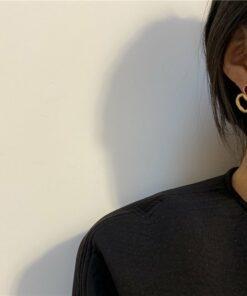 [925銀針]愛心滴油耳釘