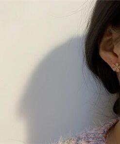 [925銀針]花朵簡約耳釘