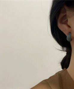 [925銀針]c形簡約耳圈耳釘