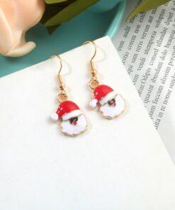 [耳環]聖誕老人小鹿鈴鐺耳環