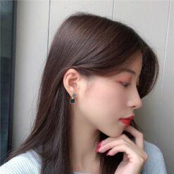 [925銀針]方形耳釘耳夾