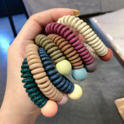 彩色豆豆電話線頭繩
