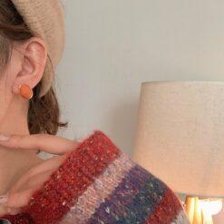 [925銀針]簡約氣質復古耳環