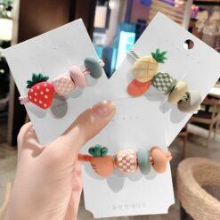 可愛水果彩珠頭繩
