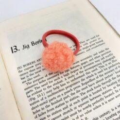 糖果色羊羔毛圓球髪繩