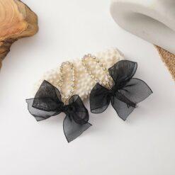 [鋼針]復古流蘇鑲鉆蝴蝶結耳環