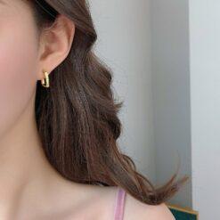 [925銀針]復古簡約小巧耳環