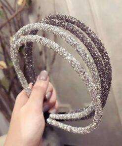 簡約水晶滿鑽髪箍