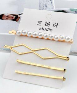 金屬珍珠髪夾組合