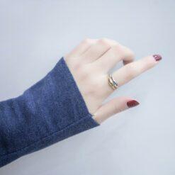[s925純銀]個性簡約波浪戒指