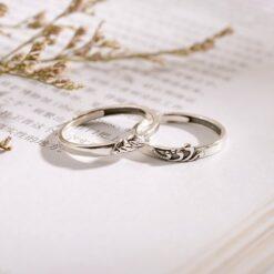 [925純銀]推拉設計海誓山盟情侶戒指