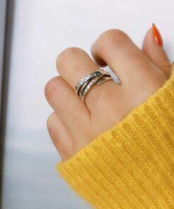 [925純銀]復古多層纏繞不規則戒指