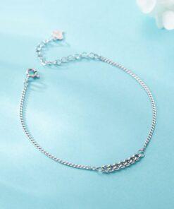 [925純銀]小眾簡約螺紋手鏈