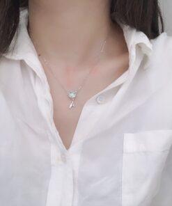 [925純銀]精致可愛水晶魚尾項鏈