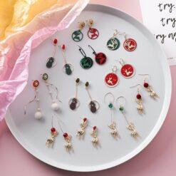 [鋼針]小巧可愛時尚聖誕耳環