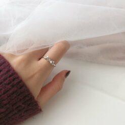[925純銀]甜美可愛蝴蝶結戒指