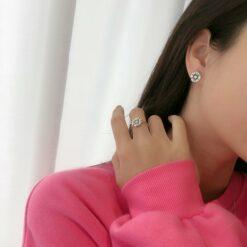 [925純銀]權誌龍ins同款雛菊戒指
