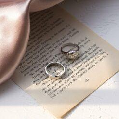 [925純銀]不規則凹凸組合粗款戒指