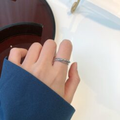 [925純銀]個性簡約多層編織交叉戒指