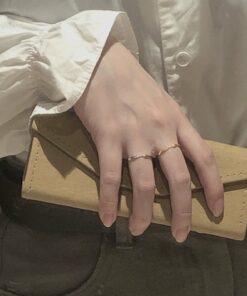 [925純銀]極簡不規則面細戒指