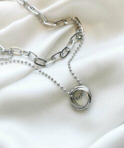 [合金]個性多層圓環項鏈