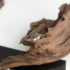 [925純銀]黑色滴油小愛心戒指