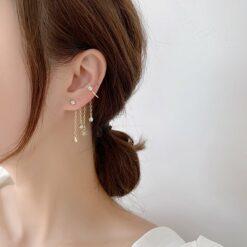 [925銀針]聖誕仙女雪花耳墜不對稱耳釘