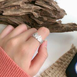 [s925純銀]山脈礦石肌理戒指