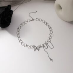 [合金]小眾設計蝴蝶項鏈