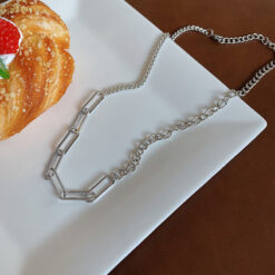 [鈦鋼]個性簡約回形針項鏈