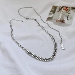 [鈦鋼]簡約高級感粗鏈條項鏈