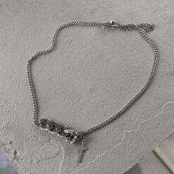 [鈦鋼]個性簡約十字架項鏈