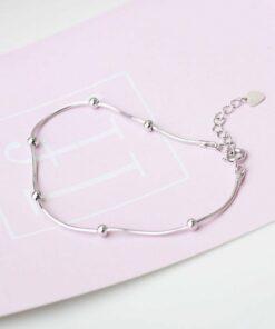 [925純銀]簡約纖細甜美圓珠手鏈