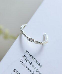 [925純銀]個性龍骨開口戒指指環