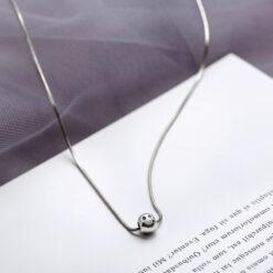 [925純銀]復古短款微笑蛇骨項鏈