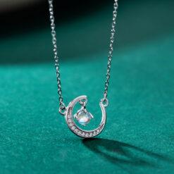 [925純銀]少女心月亮項鏈