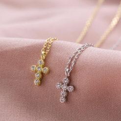 [925純銀]精致迷妳十字架項鏈